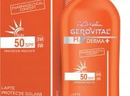 Inovație românescă: Gerovital H3 Derma+ Sun pentru protecție solară
