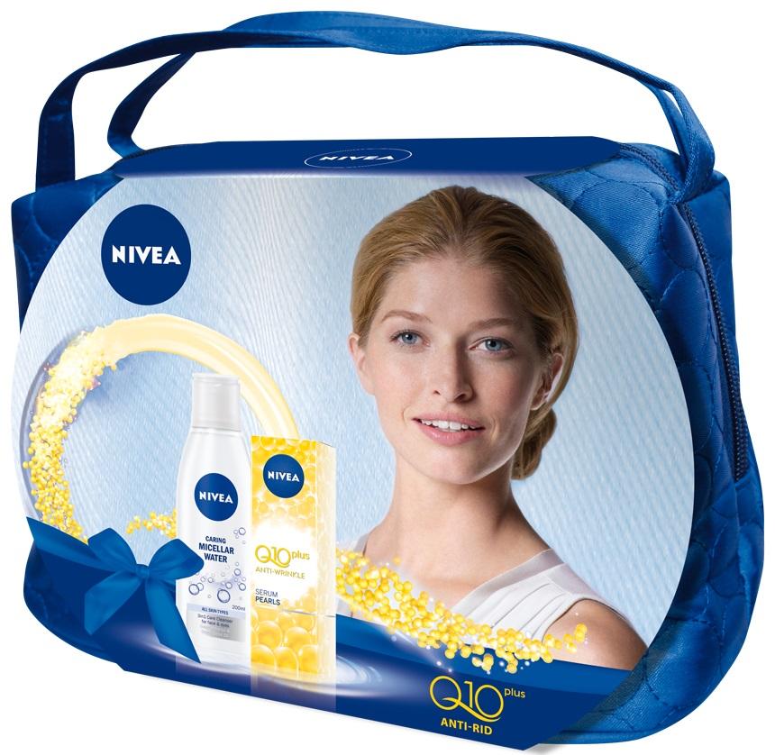 Pachet special de Craciun NIVEA Q10 Serum Pearls si Apa delicata de curatare 3in1 pentru toate tipurile de piele