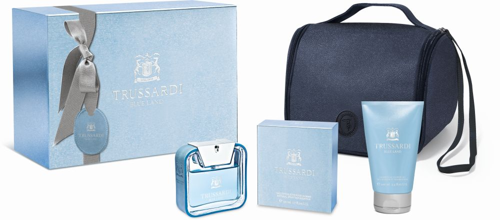 TRUSSARDI BLUE LAND TAG 50 ML BEAUTY SET - EDT 50ML + SG 100ML - 286lei