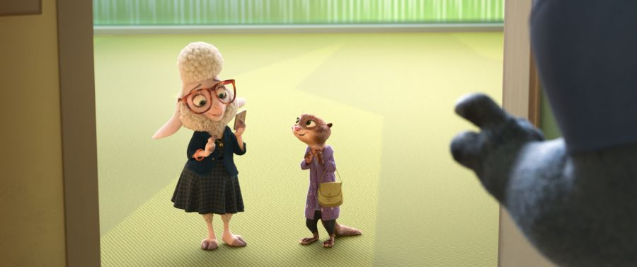 ZOOTOPIA – Pictured (L-R): Assistant Mayor Bellwether & Mrs. Otterton. ©2016 Disney. All Rights Reserved.